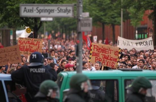 Майские праздники в Берлине - митинг