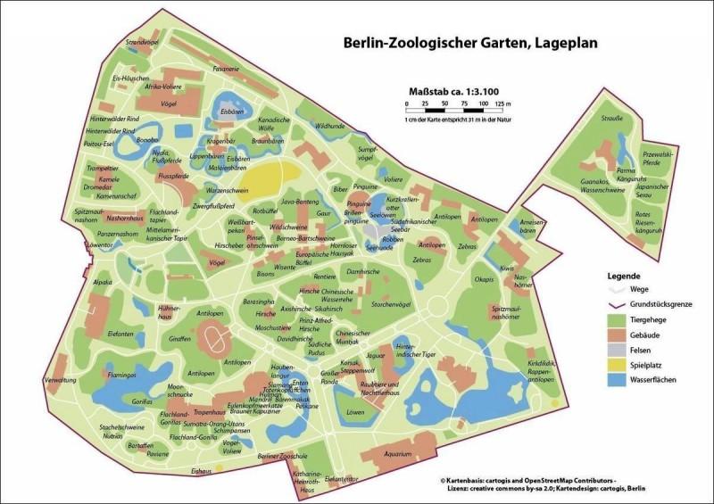 Берлинский зоопарк - карта